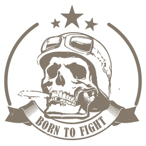 BORN TO FIGHT – groene camouflage beperkte editie